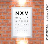 measurement table of sight.... | Shutterstock . vector #1021701424