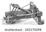 Catapult / vintage illustration from Brockhaus Konversations-Lexikon 1908
