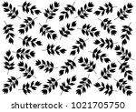 black leaf background pttern... | Shutterstock .eps vector #1021705750