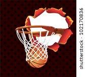 basketball poster banner | Shutterstock .eps vector #102170836
