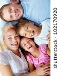 portrait of happy family... | Shutterstock . vector #102170920
