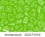 pets care seamless background | Shutterstock .eps vector #102171514