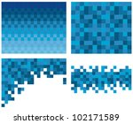 square pixel mosaic background   Shutterstock .eps vector #102171589