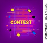 contest banner with random... | Shutterstock .eps vector #1021718623