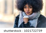 afroamerican woman portrait | Shutterstock . vector #1021722739