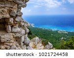 ruins and picturesque... | Shutterstock . vector #1021724458