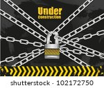 link chain with padlock on... | Shutterstock .eps vector #102172750