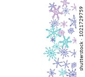 winter pattern with cute doodle ... | Shutterstock .eps vector #1021729759