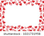love background with hearts | Shutterstock .eps vector #1021731958