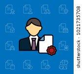 set of document icons. vector... | Shutterstock .eps vector #1021735708