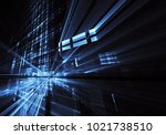 fractal art   computer image ... | Shutterstock . vector #1021738510