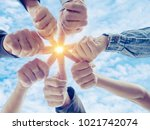 group of diverse business... | Shutterstock . vector #1021742074