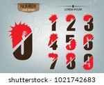abstract numbers is logo... | Shutterstock .eps vector #1021742683