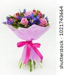 bouquet of flowers | Shutterstock . vector #1021743664