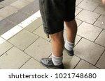 a bavarian german man wearing a ... | Shutterstock . vector #1021748680