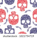 Skulls From Flowers Pattern For ...