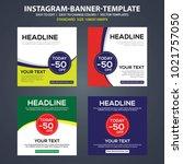 instagram banner ads template... | Shutterstock .eps vector #1021757050
