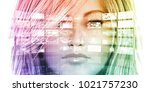 digital marketing and automated ... | Shutterstock . vector #1021757230