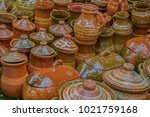 ceramic pots  traditional from...   Shutterstock . vector #1021759168