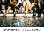 multi ethnic group of friends...   Shutterstock . vector #1021760950
