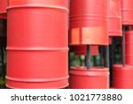 red barrel decor the restaurant | Shutterstock . vector #1021773880