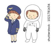 vector illustration of kid... | Shutterstock .eps vector #1021781656