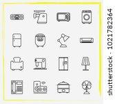 home appliances line icon set... | Shutterstock .eps vector #1021782364