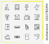 home appliances line icon set... | Shutterstock .eps vector #1021782394