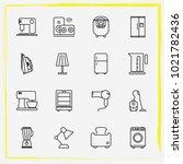 home appliances line icon set...   Shutterstock .eps vector #1021782436
