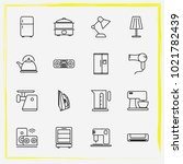 home appliances line icon set... | Shutterstock .eps vector #1021782439