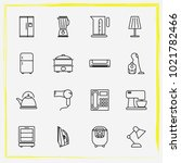 home appliances line icon set... | Shutterstock .eps vector #1021782466