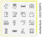 home appliances line icon set...   Shutterstock .eps vector #1021782874