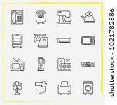 home appliances line icon set... | Shutterstock .eps vector #1021782886