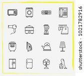 home appliances line icon set... | Shutterstock .eps vector #1021782916