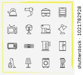 home appliances line icon set...   Shutterstock .eps vector #1021782928