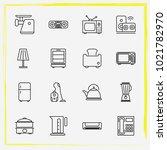 home appliances line icon set...   Shutterstock .eps vector #1021782970
