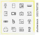 home appliances line icon set... | Shutterstock .eps vector #1021783720