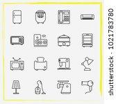 home appliances line icon set...   Shutterstock .eps vector #1021783780