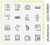 home appliances line icon set...   Shutterstock .eps vector #1021783804
