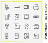 home appliances line icon set...   Shutterstock .eps vector #1021783840