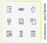 home appliances line icon set... | Shutterstock .eps vector #1021784560