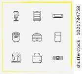 home appliances line icon set...   Shutterstock .eps vector #1021784758