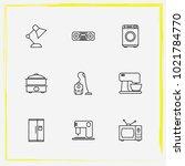 home appliances line icon set...   Shutterstock .eps vector #1021784770