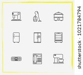 home appliances line icon set...   Shutterstock .eps vector #1021784794