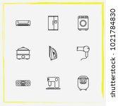 home appliances line icon set...   Shutterstock .eps vector #1021784830