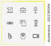 home appliances line icon set...   Shutterstock .eps vector #1021785304