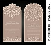 invitation card design  ... | Shutterstock .eps vector #1021786810