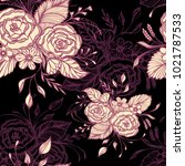 seamless pattern with flowers... | Shutterstock .eps vector #1021787533
