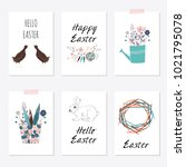 set of cards templates with... | Shutterstock . vector #1021795078