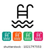 swimming pool icon  isolated on ... | Shutterstock .eps vector #1021797553